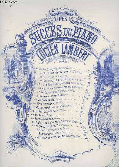 LES SUCCES DU PIANO - OP.30 : AU CLAIR DE LA LUNE.