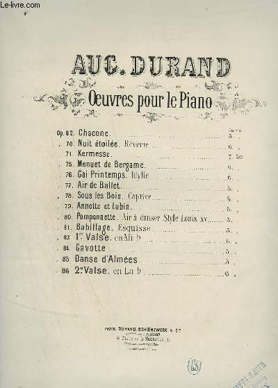 OEUVRE POUR LE PIANO OP.86 : 2° VALSE.