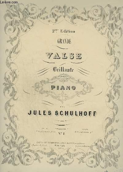 GRANDE VALSE BRILLANTE POUR PIANO A 2 MAINS.