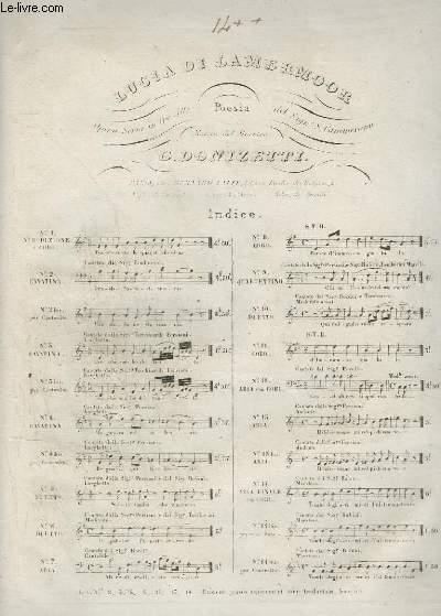 LUCIA DI LAMERMOOR - N°14 TER POUR PIANO.