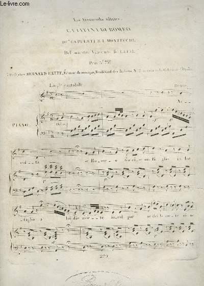 LA TREMENDA ULTRICE - CAVATINA DI ROMEO - POUR PIANO ET CHANT.