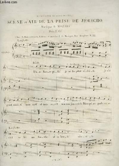 SCENE ET AIR DE LA PRISE DE JERICHO - PIANO ET CHANT.