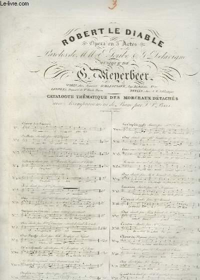 ROBERT LE DIABLE - N°3 : PIANO ET CHANT.