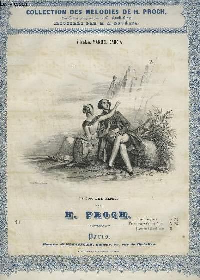 LE COR DES ALPES - N°1 POUR PIANO ET CHANT