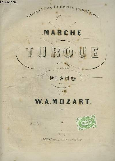 MARCHE TURQUE POUR PIANO.