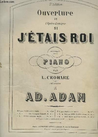 OUVERTURE DE L'OPERA COMIQUE SI J'ETAIS ROI - POUR PIANO.
