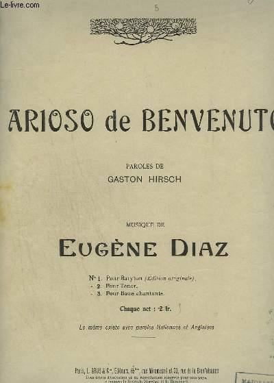 ARIOSO DE BENVENUTO - PIANO ET CHANT.