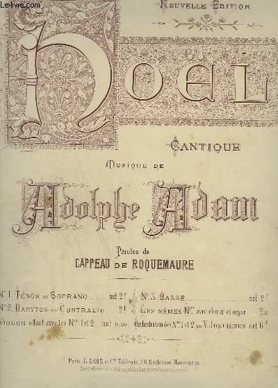 NOEL - CANTIQUE N°2 : PIANO ET CHANT BARYTON OU CONTRALTO.