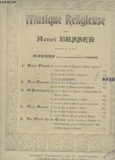 MUSIQUE RELIGIEUSE - N° 1 C : ECCE PANI MOLET AU SAINT SACREMENT - ORGUE ET CHANT SOPRANO.