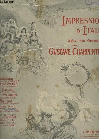 IMPRESSIONS D'ITALIE - POUR PIANO A 4 MAINS.