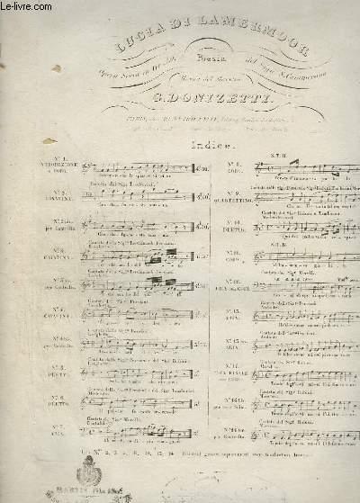 LUCIA DE LAMERMOOR - N°5 : CHANT DUO + PIANO.