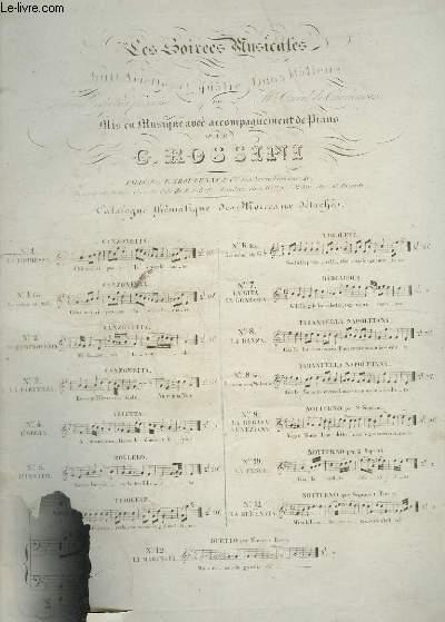 LES SOIREES MUSICALES N°11 : LA SERENATA - PIANO ET CHANT.