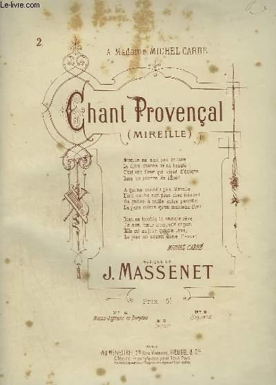 CHANT PROVENCAL - PIANO ET CHANT SOPRANO.