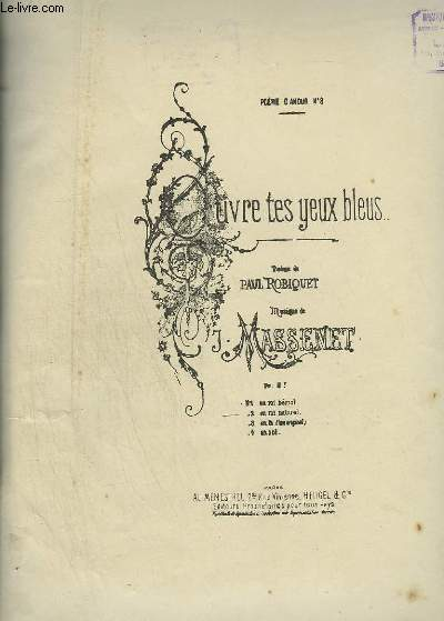 OUVRE TES YEUX BLEUS - N°2 : PIANO ET CHANT EN MI NATUREL.