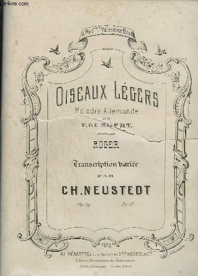 OISEAUX LEGERS - MELODIE ALLEMANDE POUR PIANO.