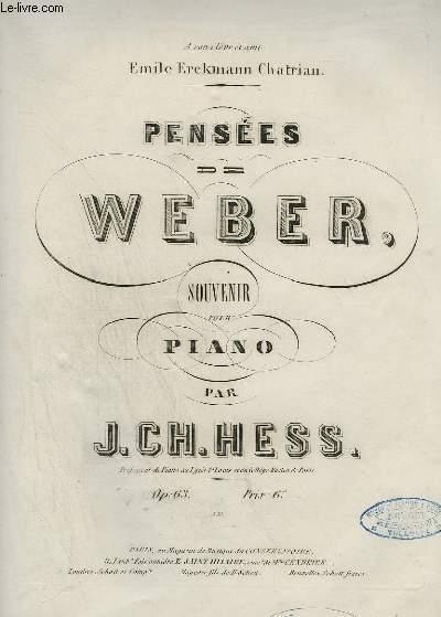 PENSEES DE WEBER - SOUVENIR POUR PIANO.