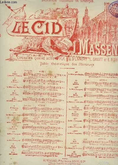 LE CID - N°1 : DUO CHANT + PIANO.