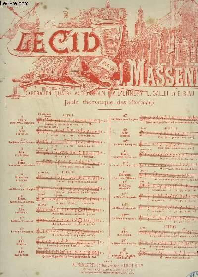 LE CID - N°7 : AIR DE L'INFANTE - CHANT + PIANO.