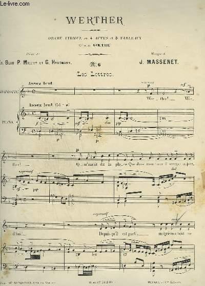 WERTHER - N°6 : LES LETTRES - PIANO ET CHANT.