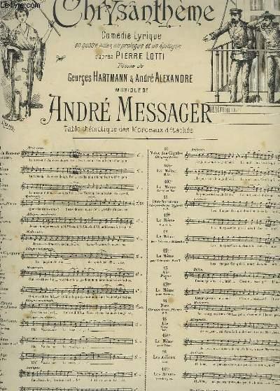 MADAME CHRYSANTHEME - N°10 : PIANO ET CHANT.