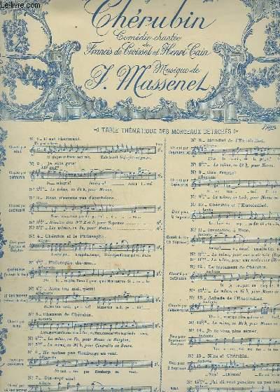 CHERUBIN - N°5 : CHANSON DE CHERUBIN - PIANO ET CHANT SOPRANO.