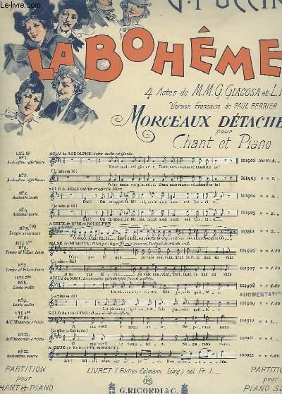 LA BOHEME - N°3 : ACTE 1 SOLO DE MIMI - OUI ! ON M'APPELLE MIMI - PIANO ET CHANT SOPRANO.