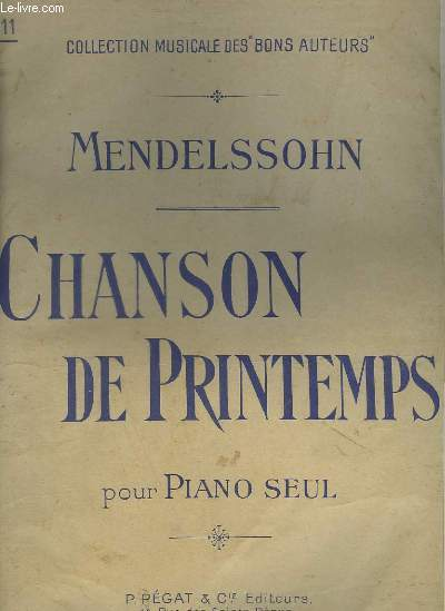 CHANSON DE PRINTEMPS - POUR PIANO SEUL.