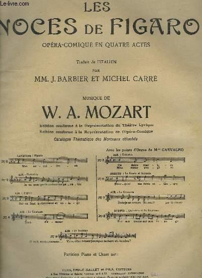 LES NOCES DE FIGARO - N°5 : AIR POUR PIANO ET CHANT.