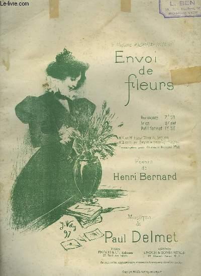 ENVOI DE FLEURS - N°2 : PIANO ET CHANT BARYTON OU MEZZO SOPRANO.