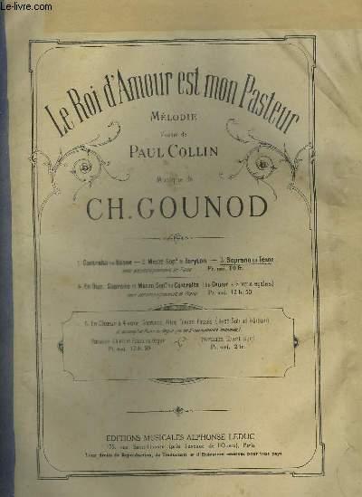 LE ROI D'AMOUR EST MON PASTEUR - MELODIE POUR PIANO ET CHANT SOPRANO OU TENOR.