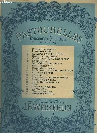 PASTOURELLES - ROMANCES ET CHANSONS DU XVIII° SIECLE - N°2 : LISON DORMAIT.
