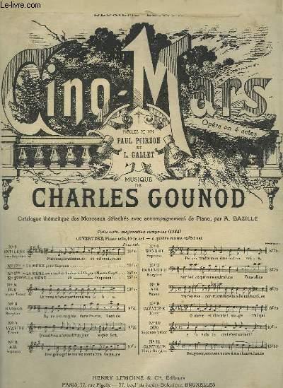 CINQ MARS - N°1 BIS : CANTILENE POUR PIANO ET CHANT SOPRANO OU TENOR.
