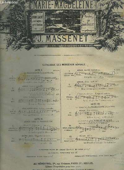 MARIE MAGDELEINE - N°10 : AIR POUR PIANO ET CHANT.