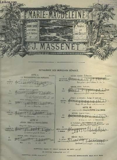 MARIE MAGDELEINE - N°2 : AIR POUR PIANO ET CHANT.