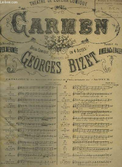 CARMEN - N°15 : PIANO ET CHANT.