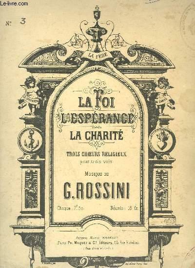 LA CHARITE - CHOEURS RELIGIEUX POUR TROIS VOIX + PIANO.