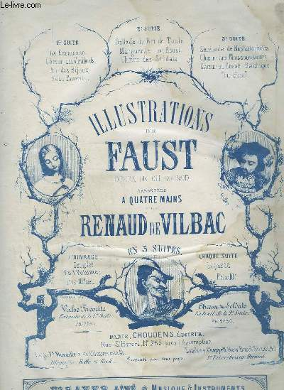 ILLUSTRATIONS DE FAUST - POUR PIANO A 4 MAINS.