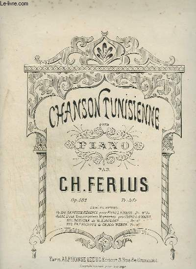 CHANSON TUNISIENNE - POUR PIANO.