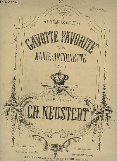 GAVOTTE FAVORITE E MARIE ANTOINETTE - POUR PIANO.
