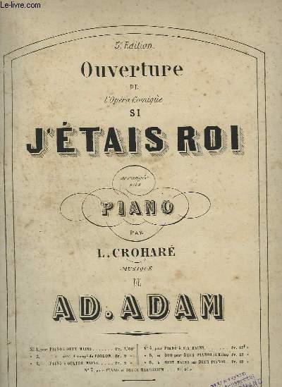 OUVERTURE DE L'OPERA COMIQUE SI J'ETAIS ROI - PIANO.