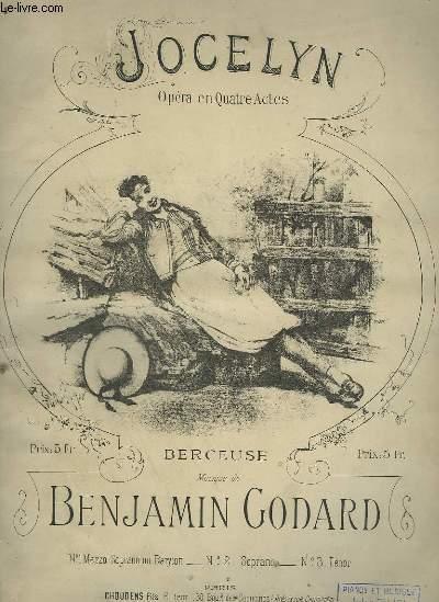 JOCELYN - BERCEUSE POUR PIANO ET CHANT MEZZO SOPRANO OU BARYTON.