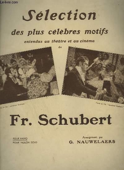 SELECTION DES PLUS CELEBRES MOTIFS ENTENDU AU THEATRE ET AU CINEMA - POUR PIANO SOLO.