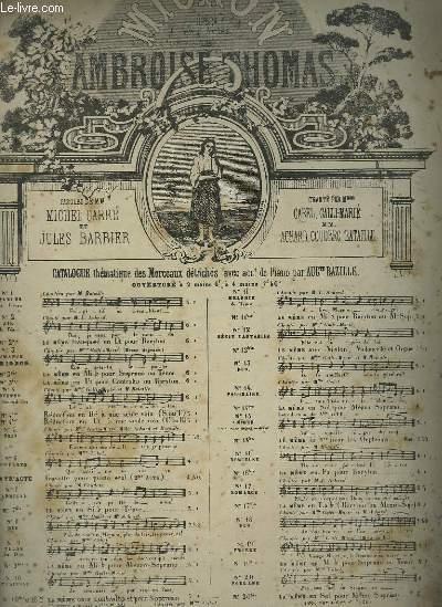 MIGNON - N°17 : ROMANCE POUR PIANO ET CHANT.