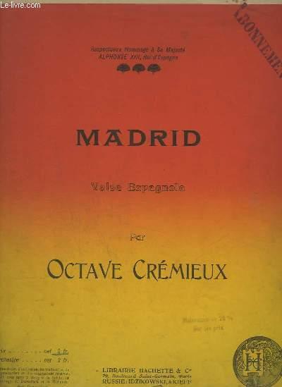 MADRID - VALSE ESPAGNOLE POUR PIANO.
