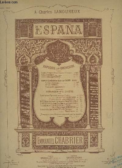 ESPANA - RAPSODIE POUR PIANO.