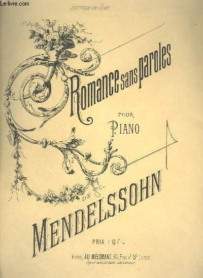 ROMANCE SANS PAROLES POUR PIANO.