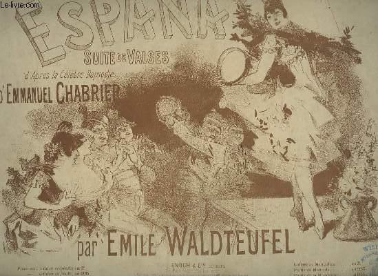 ESPANA - SUITE DE VALSES POUR PIANO A 4 MAINS.