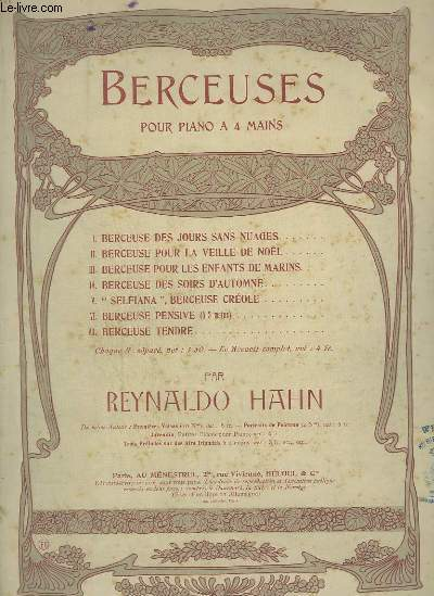 BERCEUSES POUR PIANO A 4 MAINS - N°2 : BERCEUSE POUR LA VEILLE DE NOEL.