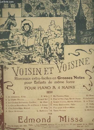 VOISIN ET VOISINE - N°9 : SONNEZ CLAIRON - MARCHE MILITAIRE POUR PIANO A 4 MAINS.
