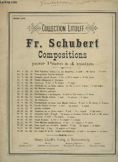 COMPOSITIONS POUR PIANO A 4 MAINS - N°19 : DEUX MARCHES CARACTERISTIQUES.